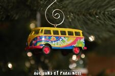 Peace Volkswagen T2 Bus Custom Christmas Ornament VW Panel Van 1/64 Flower Power