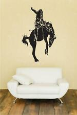 Bronc Riding Huge Wall Vinyl Decal,saddle,horse,rodeo,cowboy,boots,rope,lasso