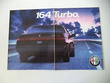 advertising Pubblicità 1988 ALFA ROMEO 164 TURBO