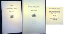 1971 SPECIAL JOHN RUSKIN LAKELAND POEMS UNPUBLISHED POETRY ISLE OF WIGHT