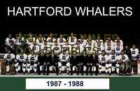 1988 HARTFORD WHALERS TEAM PHOTO 8X10