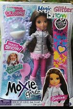 New Moxie Girl Girlz Sophina  Doll Magic Snow Board Winter Ski Glitter Brush Fre