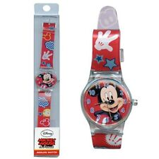 Disney Mickey Mouse Analog Watch with printed Band in Long PVC Box