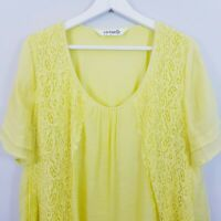 [ TS TAKING SHAPE ] Virtuelle Womens Lace Illusion Tunic Top | Size AU 12 - 14