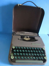VTG. Smith-Corona Skyriter Compact Travel Manual Typewriter Gray Works See Desc.