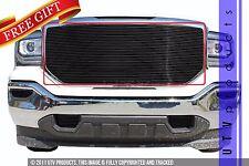 GTG 2016 2017 GMC Sierra 1500 1PC Gloss Black Insert Billet Grille Grill Kit