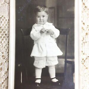 Antique RPPC Photo Postcard Little Boy Toddler ID Claude Peace Speegle Chico Ca