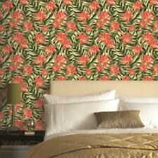 Superfresco Easy New Tropical Green/Pink Floral Wallpaper (Was £17)