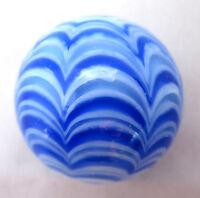 "25mm BLUE RIALTO Handmade art glass pattern design Marbles ball Large 1"" SHOOTER"