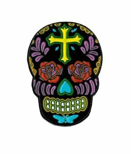 Sunny Buick, Rose Cross Skull, Officially Licensed, Designed ENAMEL PIN - 1.25""