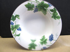 "MIKASA  OPTIMA ""VINEYARD Y4004""  7  RIMMED SOUP BOWLS PERFECT! DISCONTINUED 2003"
