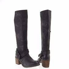 Women's Modern Rebel Neve Shoes Black Synthetic Knee-High Boots Size 6 M NEW!