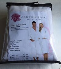 Canyon Rose Cloud 9 Plush Microfiber Women's Long Spa Robe, Medium/Large, White