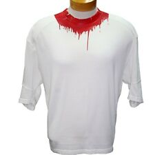 Dsquared2 White Dsq2 Logo Neck Blood Splatter Men's Classic M