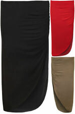 Viscose Party Patternless Maxi Skirts for Women