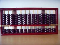 Usado - ÁBACO CHINO , Calculadora manual de madera