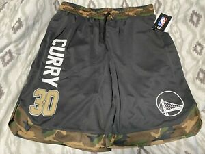 Brand New NBA Golden State Warriors CAMO Stephen Curry Basketball Shorts Large