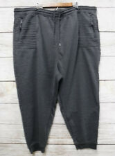 Airwalk Jogger Pants Mens Size 3X Charcoal Heather Fleece Zip Pocket New 6b2754345ad0