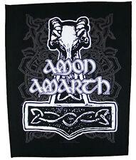 AMON AMARTH Backpatch 'THORS HAMMER' Rückenaufnäher ♫ Viking Death Metal ♫