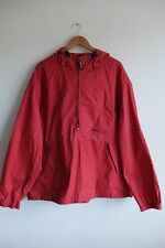 Vintage 90's Tommy Hilfiger Spell-out ¼ zip pullover jacket/anorak | 2XL | Red