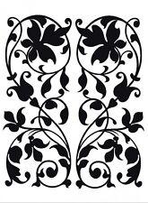Flock wall tattoo wall sticker tattoo wall decoration TÜV - leaves baroque vines
