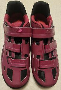 $99 Louis Garneau Sapphire MTB Cycling Shoes Magenta Women's Size 9.5 EU 4