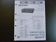 ORIGINALI service manual Sony xr-c210mk2 c212mk2 c213mk2