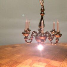 Kronleuchter funktioniert Bodo Hennig Puppenstube Puppenhaus 1:12 dollhouse lamp