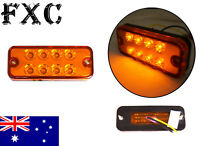 12V LED FRONT SIDE REAR AMBER ORANGE MARKER INDICATOR REFLECTOR LIGHTS LAMP