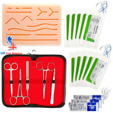 UK Stock Complete Suture Practice Kit Suture Training Large Silicone Suture Pad