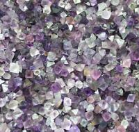 100g BEAUTIFUL purple/ green/TRANSLUCENT OCTAHEDRON FLUORITE CRYSTALS HEALING