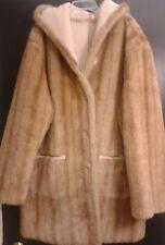 Jones New York  Reversible Faux Fur/Suede Coat with Hood Size L