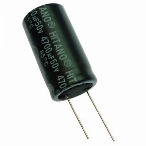 4700uF 50V Electrolytic Radial Capacitor 85C