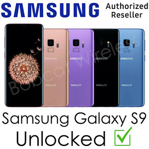 Samsung Galaxy S9 G960U 64GB AT&T T-Mobile Sprint Verizon Factory Unlocked Good