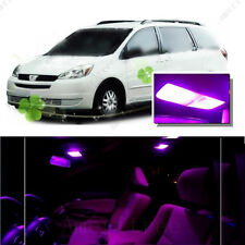 For Toyota Sienna 2004-2010 Pink LED Interior Kit + Pink License Light LED