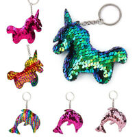 Lovely Dog Star Keychain Glitter Pompom Sequins Key Chain Key Ring Accessories