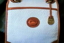 Vintage Dooney & Bourke Satchel White Leather & British Tan Hand Purse