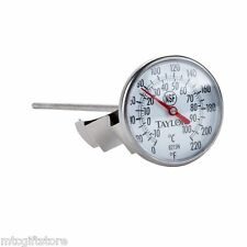 "0° to 220° F Thermometer pan clip 8 inch probe 1.75"" Large Dial Nsf # 08215"