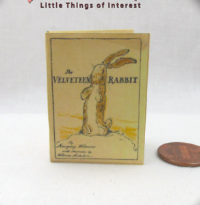The VELVETEEN RABBIT 1:6 Scale Illustrated Readable Book Children's Toy Real