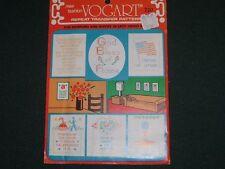 Vtg 50s Original Vogart Embroidery Cross Stitch 5 Samplers Transfers Set Uc#k39