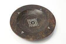 Shallow Wooden Bowl Aztec Decor Design