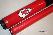 NFL Kansas City Chiefs Billiard Pool Cue Stick with Case FREE SHIPPING
