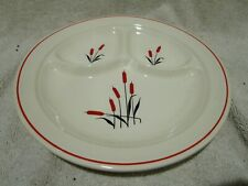 Vintage Universal Cambridge Cattail Tri Divided Dish
