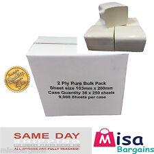 Bulk Pack Tissue, Multi Flat Pack 36 x 250 sheet (9000 Sheets) 2ply Toilet Tissu