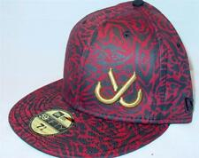 JSLV New Era 59Fifty RETRO LOGO Fitted Hat Burg  7 5/8   SICK LID!  OLD SCHOOL!