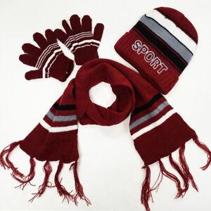 Boy's Sport Kid's Warm Winter Beanie Hat Scarf Glove Set (3 Piece) 1-5 Year Old
