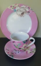 New Monsoon Accessorize Home Ceramic Trio Cup/Saucer & Plate