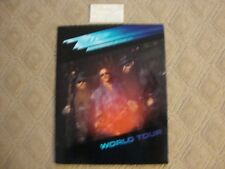Zz Top Afterburner Concert Program Book and Ticket Stub 1986