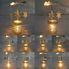 Christmas Decor Rotating Carousel Tea Light Candle Holder Stand Elk Light Gifts