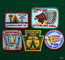 BOY SCOUT - LOT OF HIDDEN VALLEY SUMMER CAMP PATCHES -  KEYSTONE AREA COUNCIL